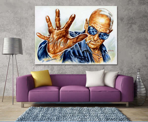 Telly_Savalas_painting_poster_portrait_killer_force_sofa