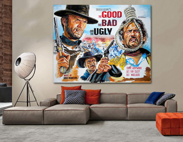 good_bad_ugly_poster_clint_eastwood_paitning_leone_canvas