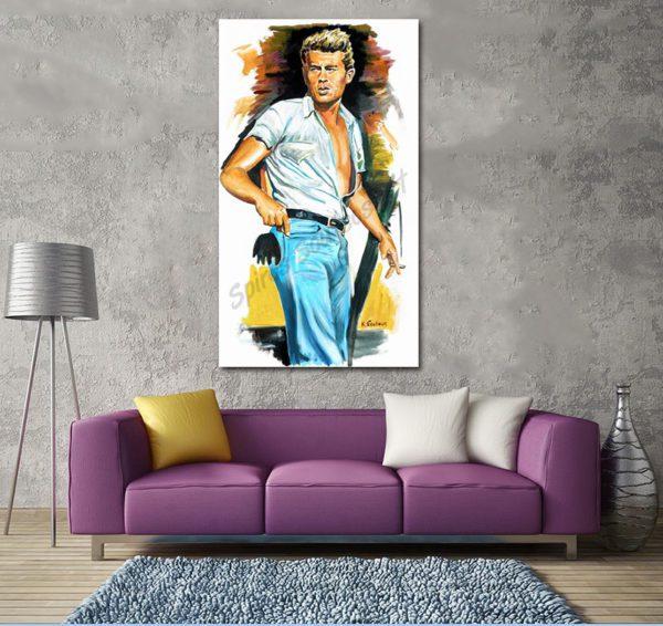 james_dean_giant_portrait_painting_movie_poster_canvas_print_sofa