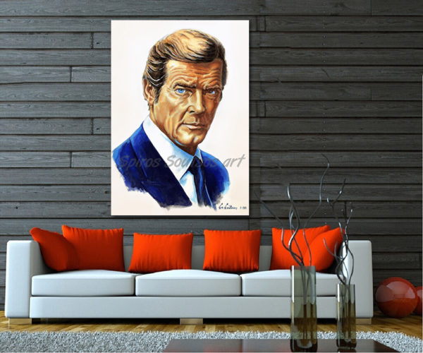 roger-moore-painting_portrait_octupussy_poster_print_sofa
