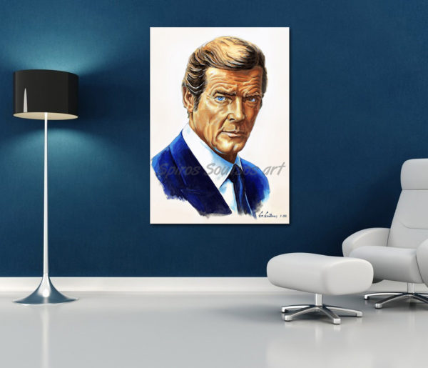 roger-moore-painting_portrait_octupussy_poster_print_sofa_canvas