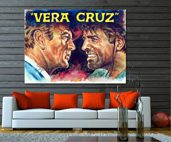 vera_cruz_movie_poster_gary_gooper_burt_lancaster_portraits_painting_print_canvas
