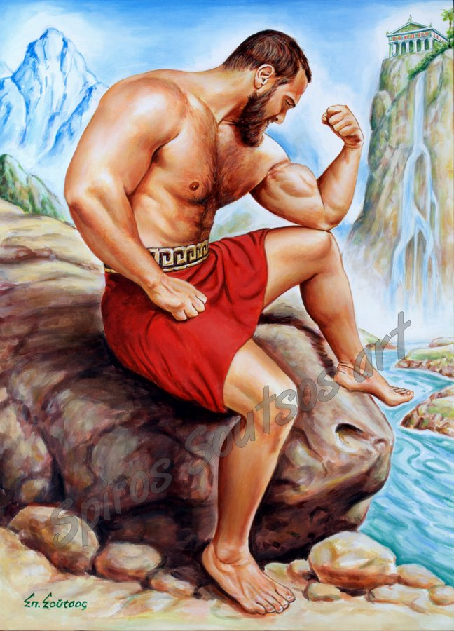 ancient_greek_spartan_wrestler_olympus_painting_art_body_building