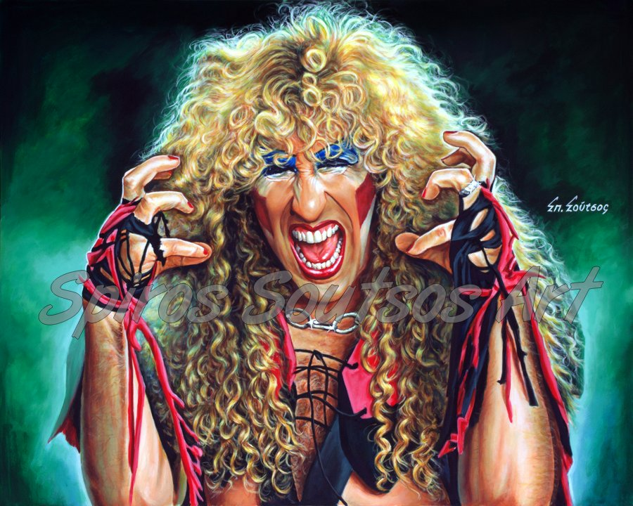 Dee Snider painting portrait, Twisted Sister poster, original hand-painted artwork