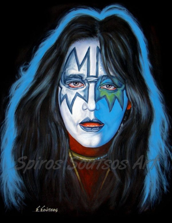 Ace_Frehley_Kiss_canvas_print_painting_poster_portrait_solo